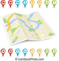 3D tourist folded Citymap