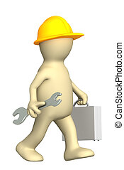 3d, trabalhador