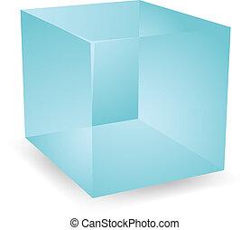 3d Translucent cubes - Blank cube translucent 3d shape...