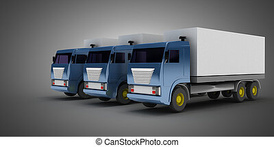 3D transport logistic concept. 3d illustration
