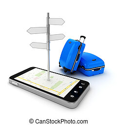3d travel and navigation planning, concept