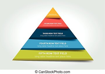 3d triangle infographic, chart, scheme, diagram, table, ...