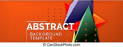 3d triangular vector minimal abstract background design