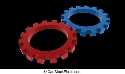 gears - 3D turning gears animation