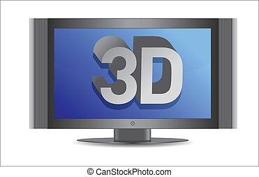 3d tv illustration design