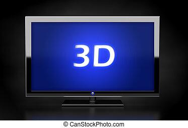 3D TV LED screen