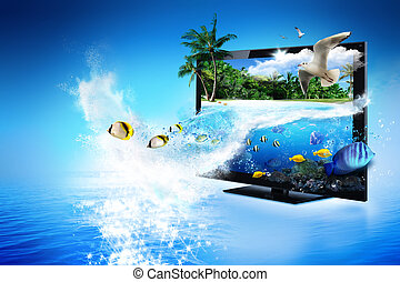 3D TV - magical world of nature - 3D TV technology - nature...
