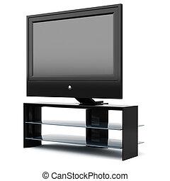 3d tv set, studio render