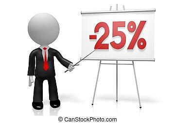 3D twentyfive percent off