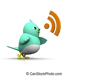 3D TWITTER BIRD VOICE - THE BIRDS SPEAK OUT LOUD UNTIL...