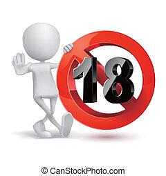 3d, type, et, adultes seulement, contenu, signe., xxx, sticker.