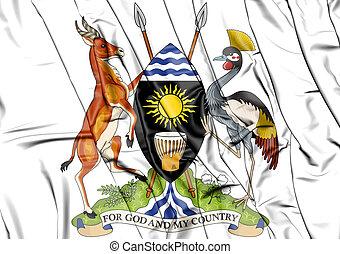3D Uganda Coat of Arms.