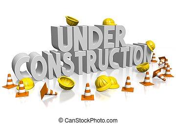 3D under construction concept