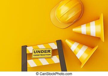 3d Under construction concept.