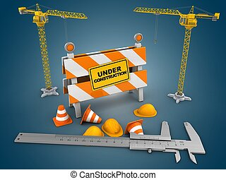 3d under construction stand