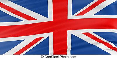 3D United Kingdom Flag