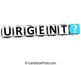 3D Urgent Crossword