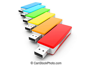 3d USB flash drives