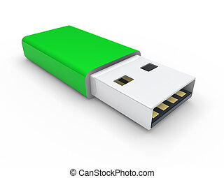 3d usb stick green