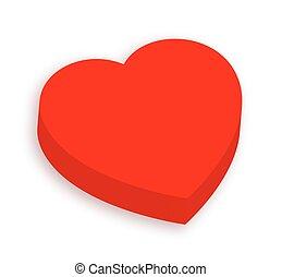 Love Heart - 3d Valentine Love Heart Vector Shape Isolated ...
