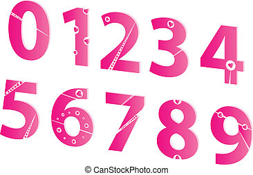 3D Valentines Day Love Numbers