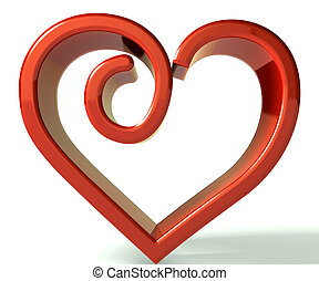 3d valentines day symbol