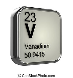 3d Vanadium element - 3d render of Vanadium element design