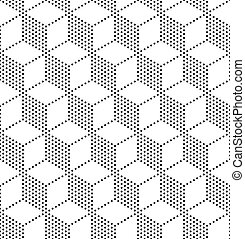 Seamless Cubes Pattern - 3d Vecor Seamless Cubes Pattern