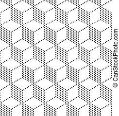 Seamless Cubes Pattern - 3d Vecor Seamless Cubes Pattern