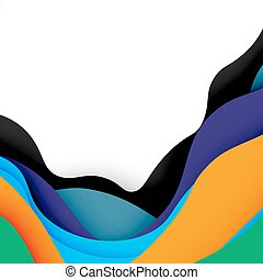 3d vector abstract background with cut shapes, business ...