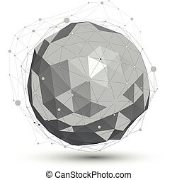 3D vector abstract design object,