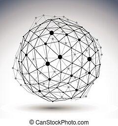3D vector abstract design template,
