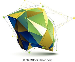 3D vector abstract object