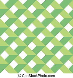 3D vector abstract seamless pattern. Green grid