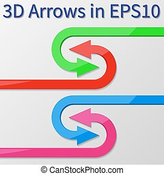 3d vector arrows