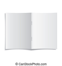 Blank cover 3d magazine mock template. Vector illustration ...