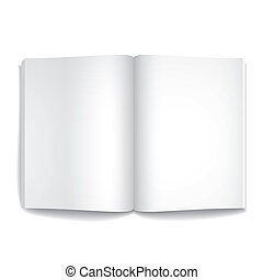 3d vector blank opened magazine template