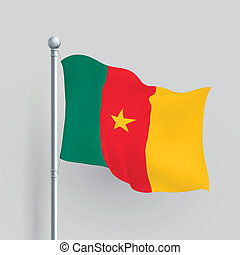 3d vector Cameroon flag