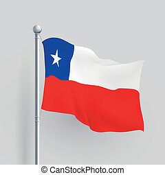 3d vector Chile flag