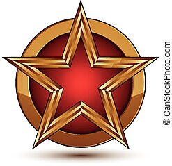 3d vector classic vintage symbol