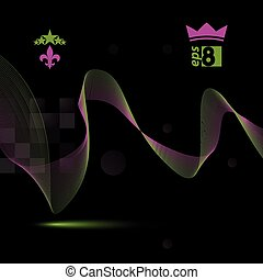 3d vector decorative background