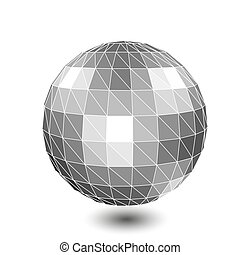 3d vector digital wireframe spherical objects