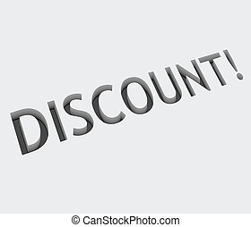 vector discount text design