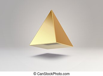 3D vector element or simple isolated golden shape