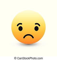 3D Vector Emoticon Icon Design - 3D Vector Sad Emoticon Icon...