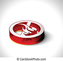 3d vector fire web icon