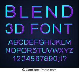 3d Vector font.