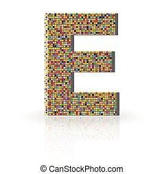 3D Vector Font E