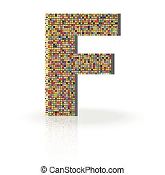 3D Vector Font F
