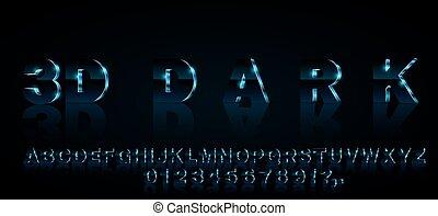 3d vector font